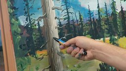 Painting Trees and Bark